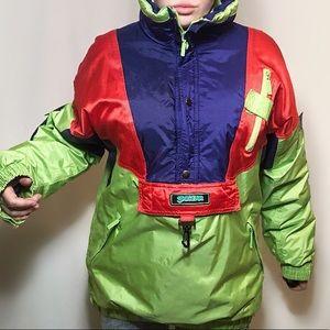 Vintage SKYGEAR pullover ski jacket warm pockets